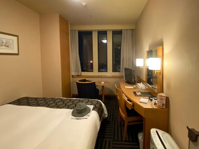 山形駅西口ワシントンホテル19階客室